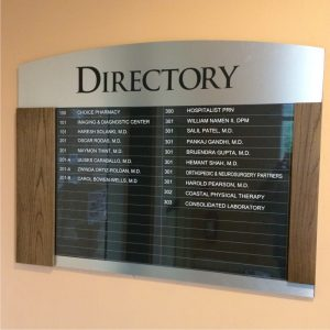 Attractive Directory Signage